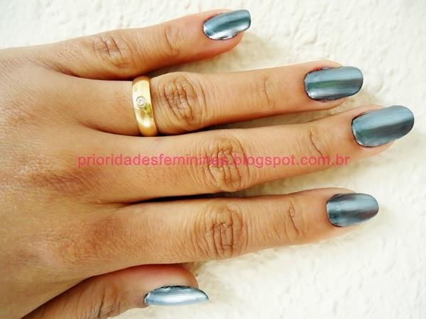 metal nail, nail art aluminio, silver,