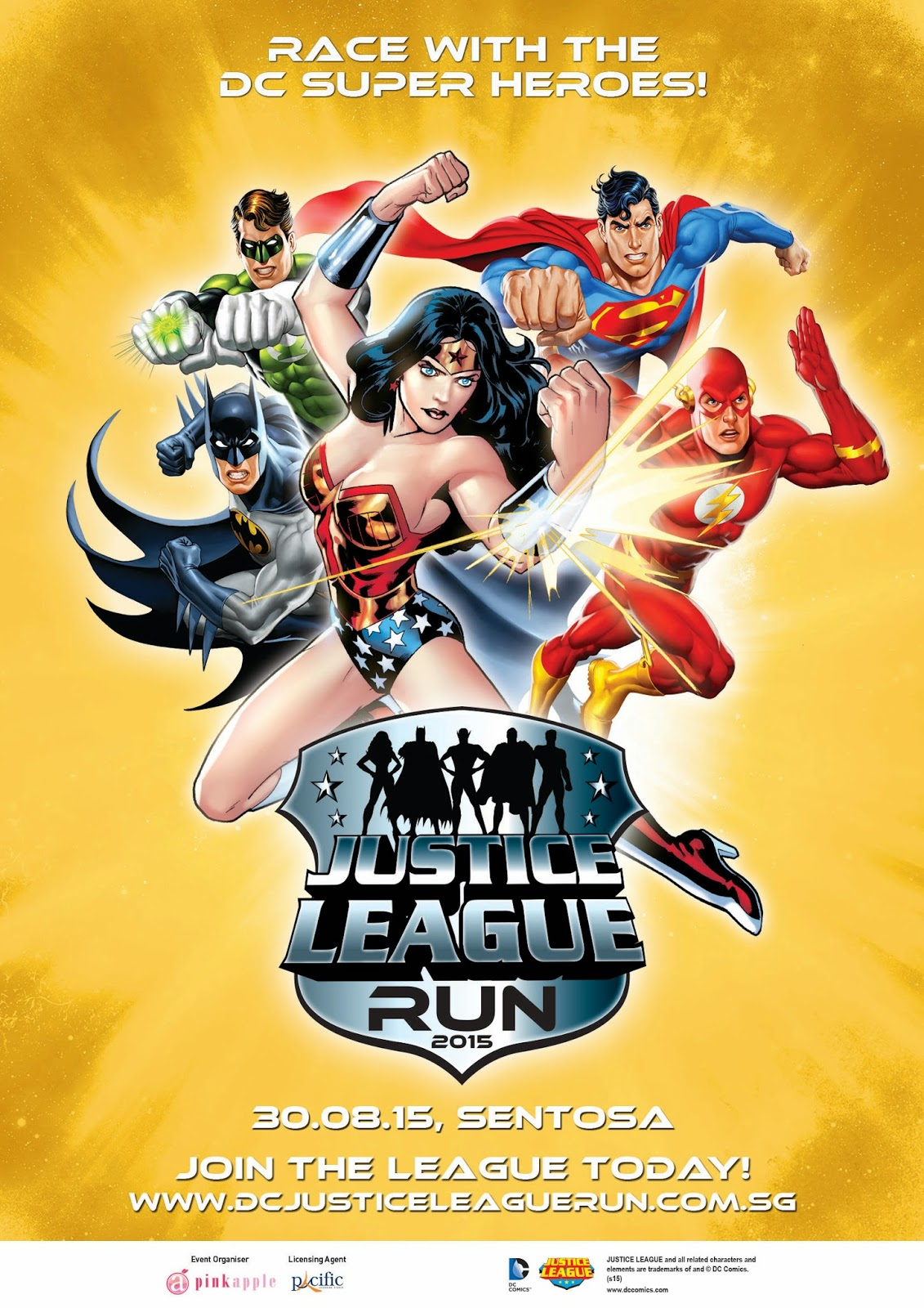 Run With Your Favourite DC Justice League Heroes This August HuneyZ World