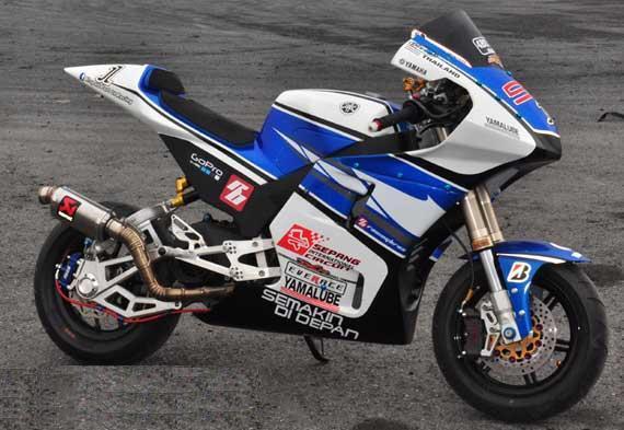 modifikasi mio sporty ala motogp  tahun ini