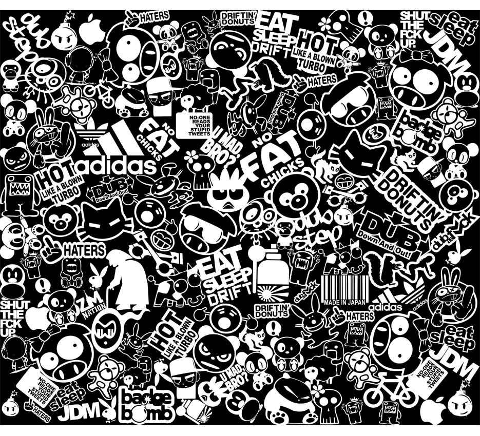 sticker bomb car wallpaper images