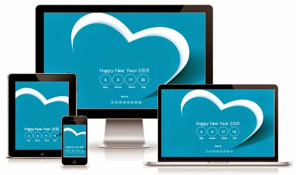 Happy New Year Responsive Blogger Template Free Download