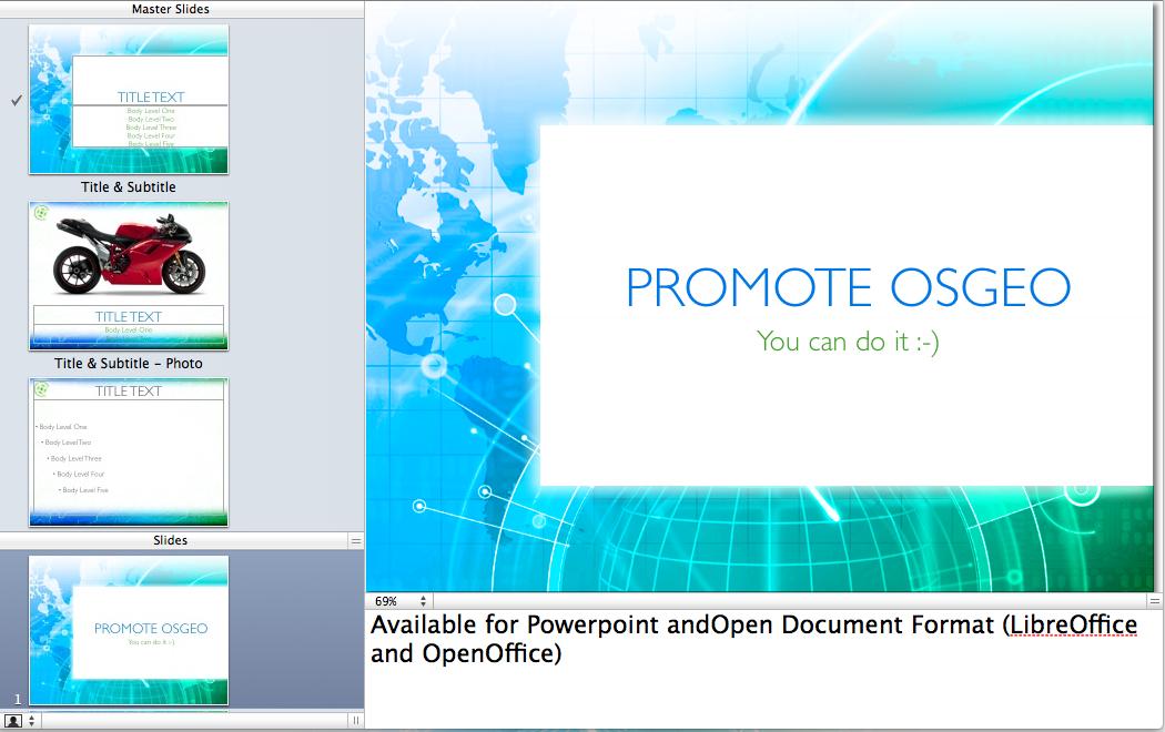 how 2 map: osgeo presentation template, Presentation templates