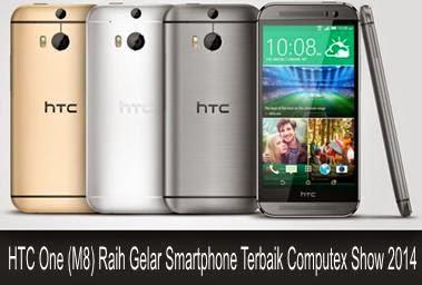 HTC One (M8) Raih Gelar Smartphone Terbaik Computex Show 2014