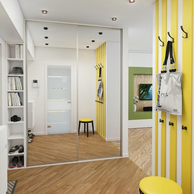 Гардеробный шкаф с зеркальными дверями