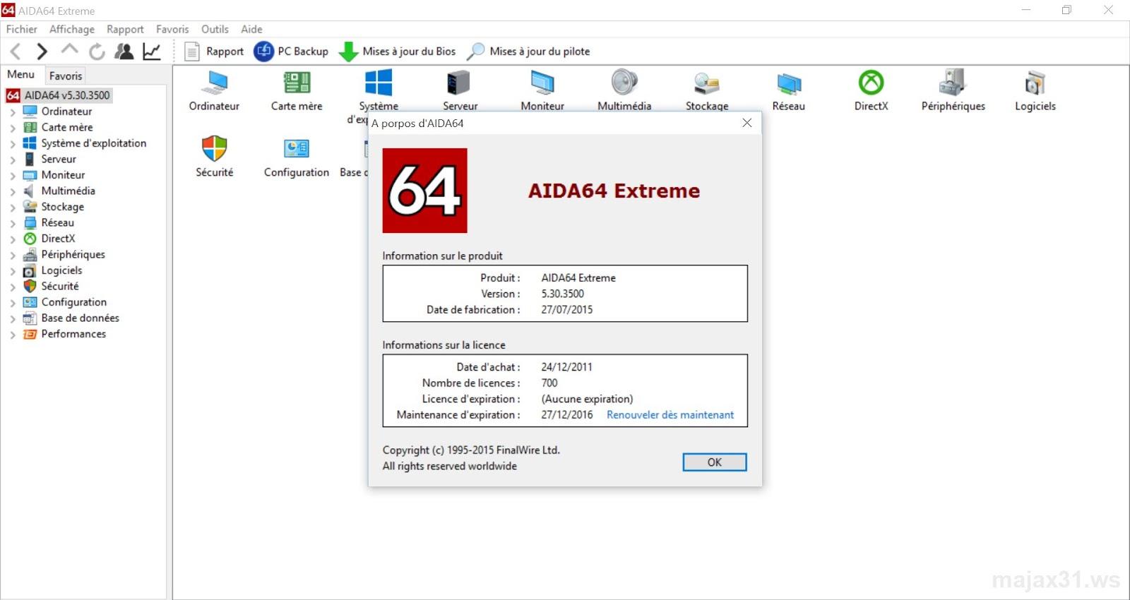 Resultado de imagem para AIDA64 Extreme 5.95.4500