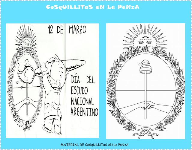 LAVIDA2010 Escudo Nacional Argentino Con Activ Para El Aula
