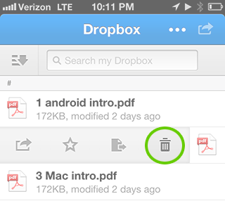 how to delete from dropbox trash