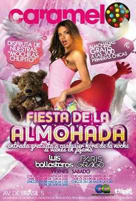 Fiesta de la almohada en Discoteca Caramelo sabado 9 de noviembre