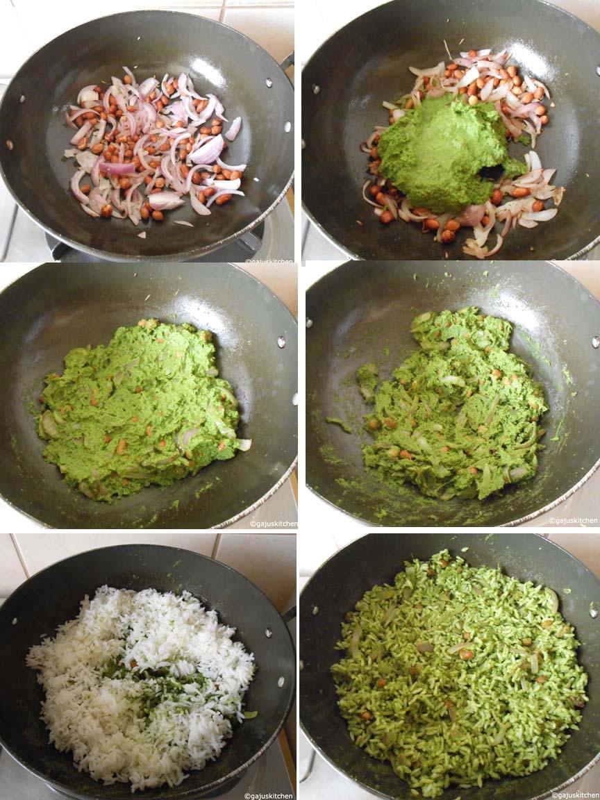 Mint rice preparation