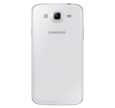 samsung galaxy mega white 6.3-inches smartphone rear view