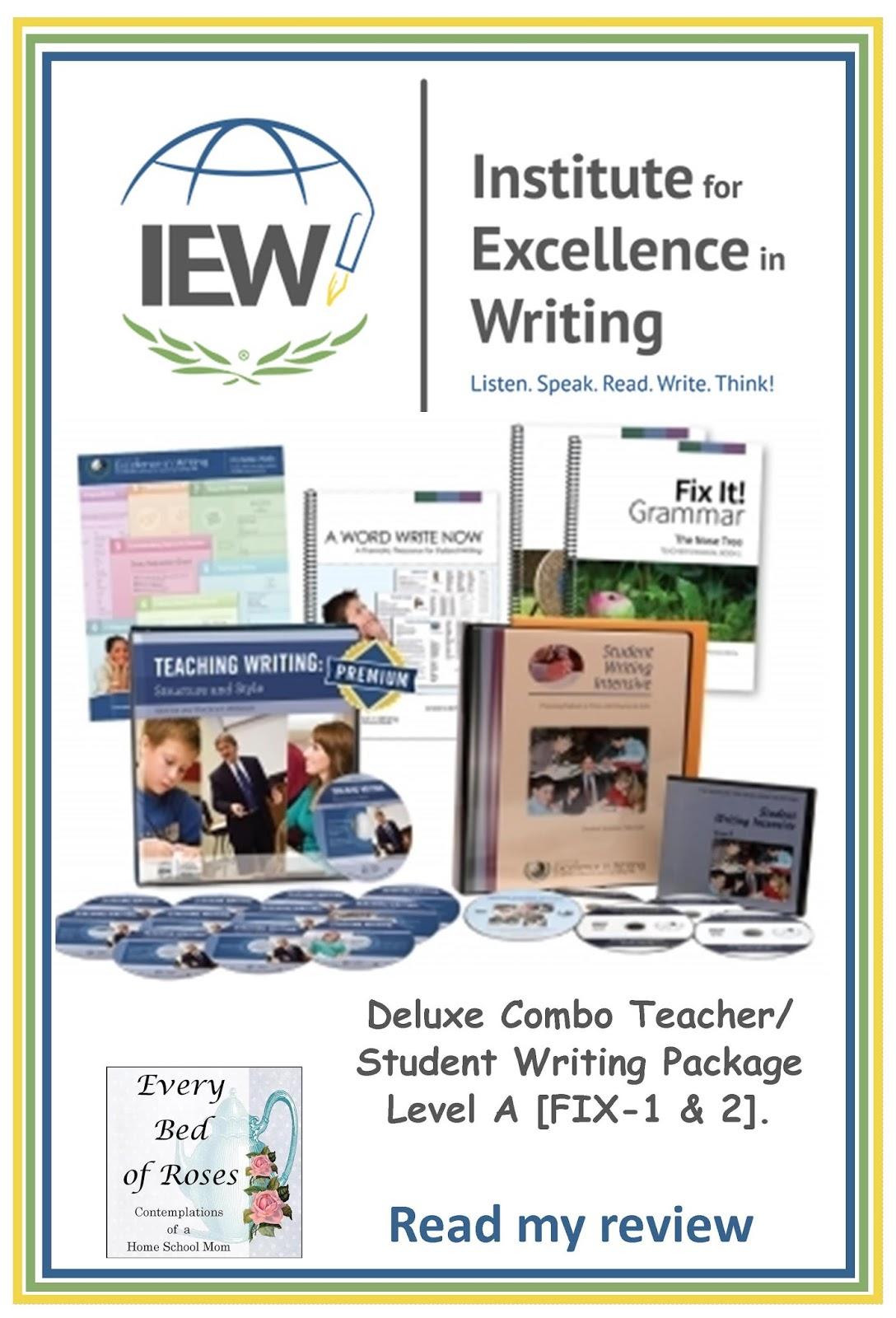 institute of excellence in writing Institute for excellence in writing- teaching writing: structure and style dvds by andrew pudewa feeling empowered as a parent/teacher many of my blog readers have been asking me to write.