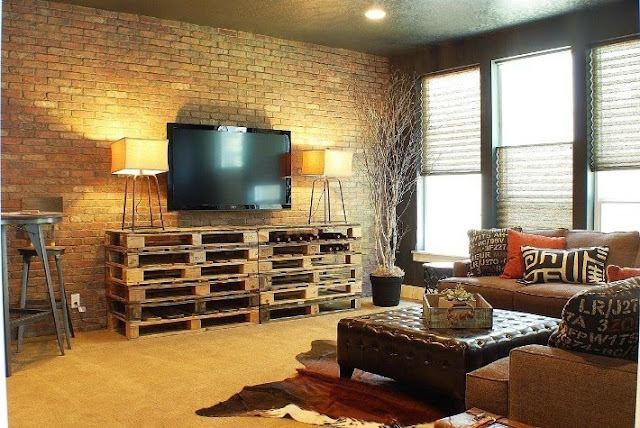 paint colors for living room with brick wall