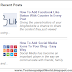Recent Posts Widget With Thumbnails For Blogger Blog