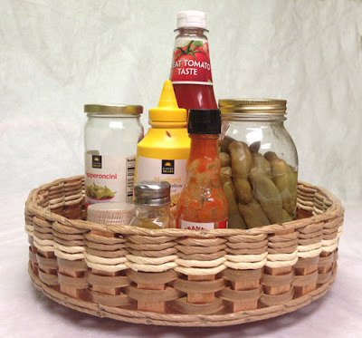 Lazy Susan with basket