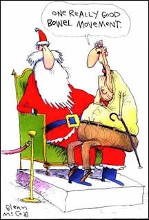 Funny Christmas Cartoons Santa Bowel Movement