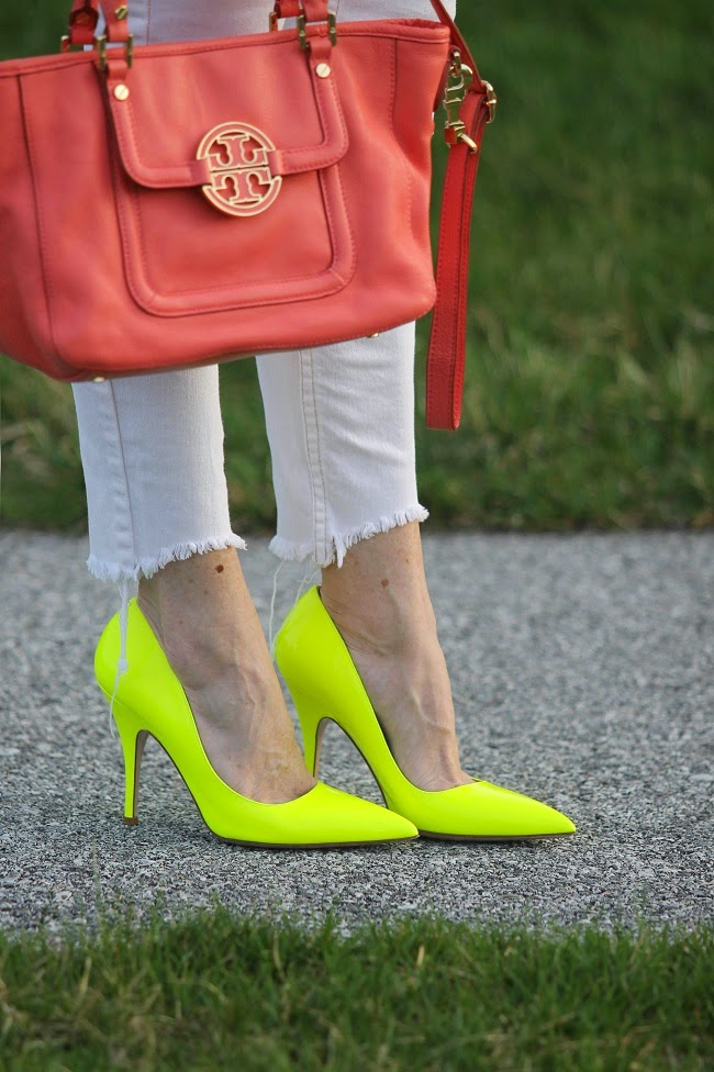 tory burch amanda tote, kate spade licorice heels