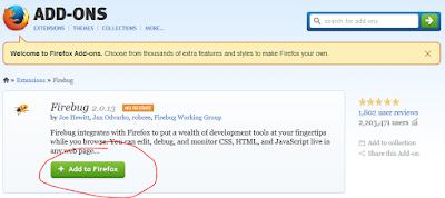 Firebug Add-on for Firefox