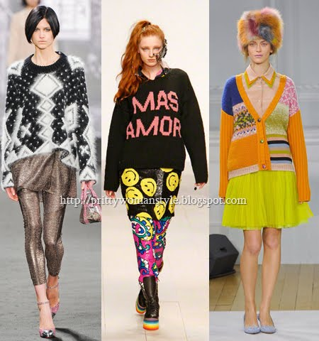 Широки пуловери и жилетки