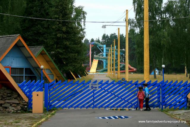 Abandoned campsite Latvia