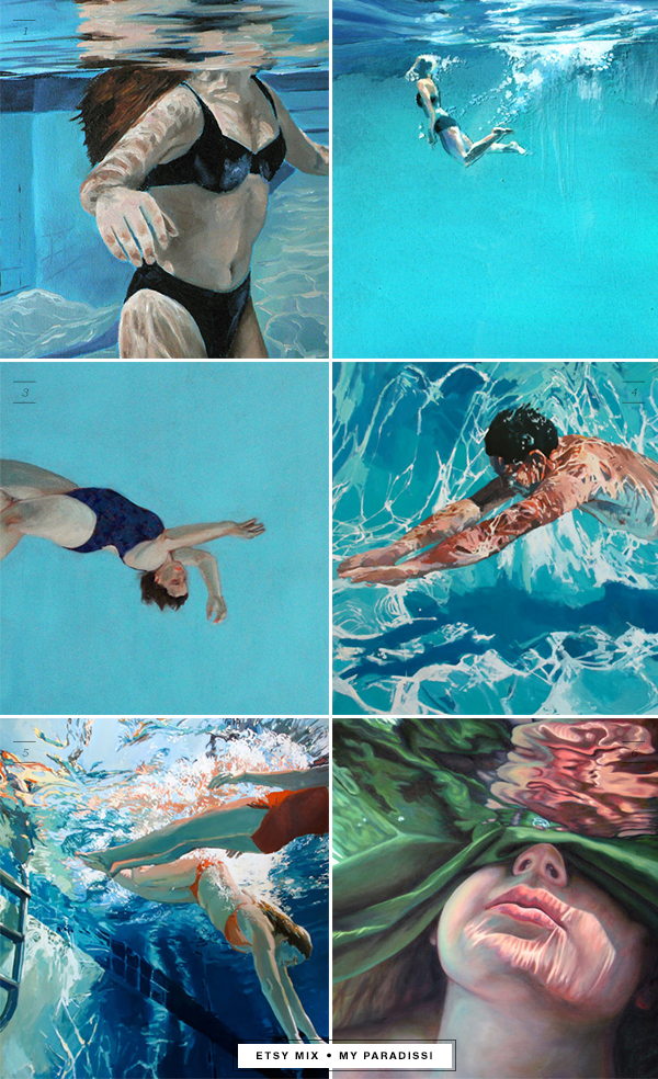 Etsy mix of the week   Underwater paintings