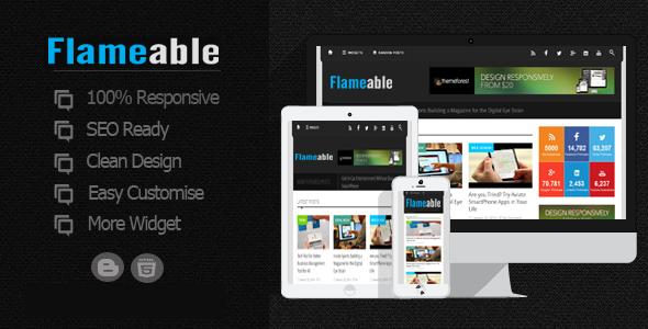 flameable responsive blogger magazin teması