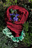 pattern cherry scarf