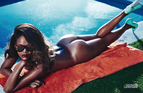 Rihanna by Mario Sorrenti for Lui Magazine 2014