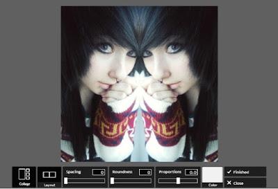 Cara Efek Foto Mirror Online