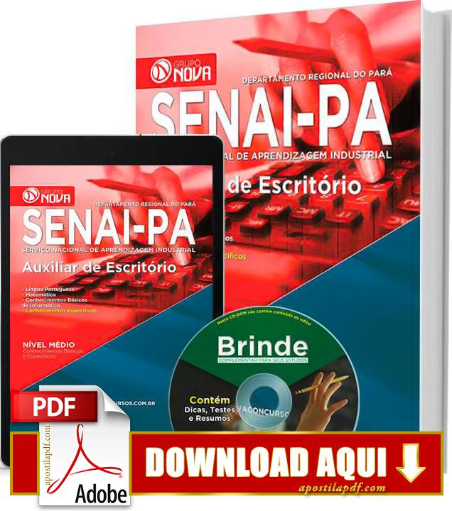 Apostila SENAI PA 2015 Auxiliar de Escritório Impressa PDF Grátis Download