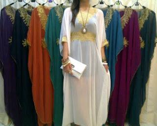 model baju kaftan dan trend baju gamis kaftan terbaru 2012