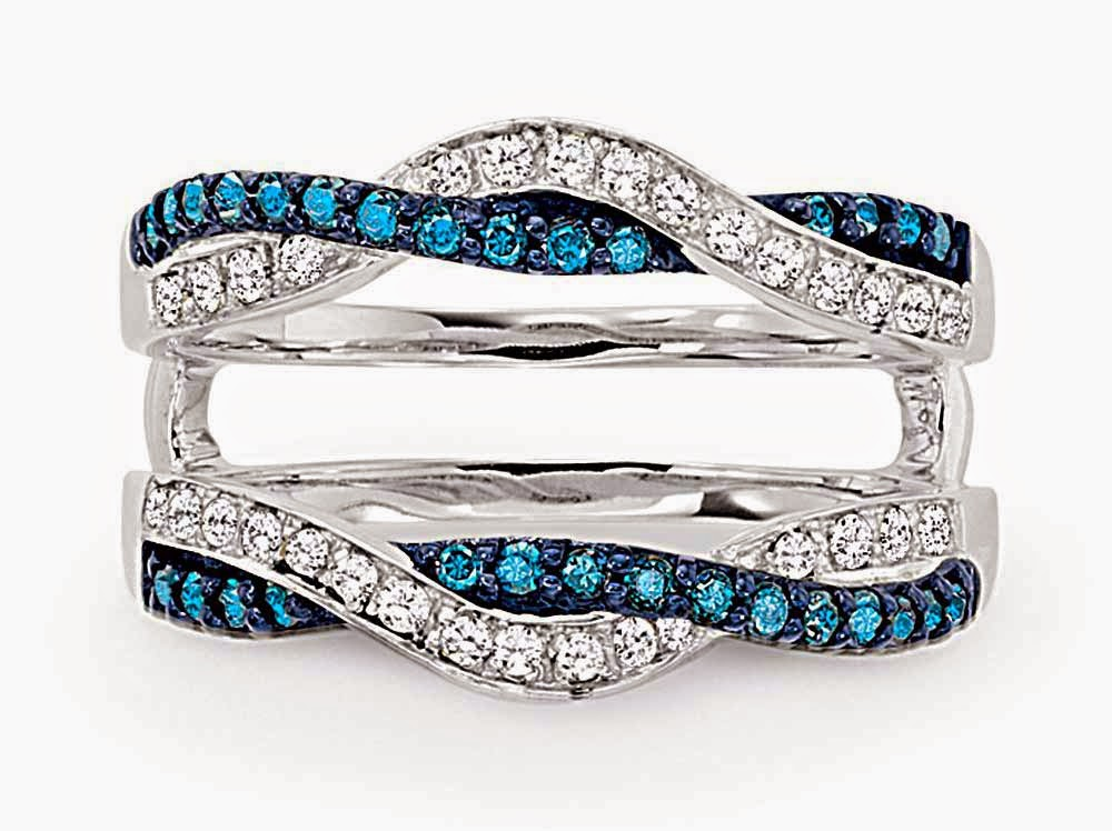 Womens Blue Diamond Wedding Rings Enhancer Cheap Model pictures hd