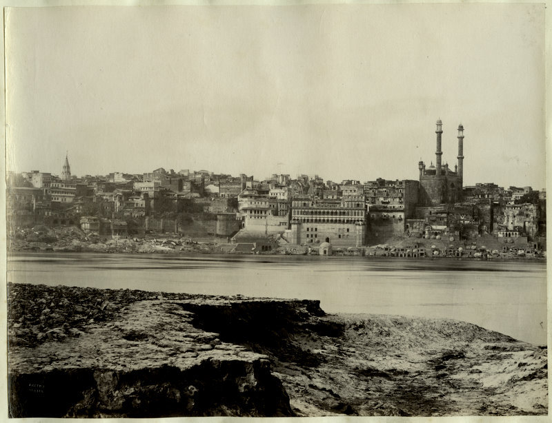 Benares (Varanasi) Across the River Ganges - 1870's