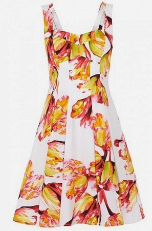 karenmillen tulip print a-line dress
