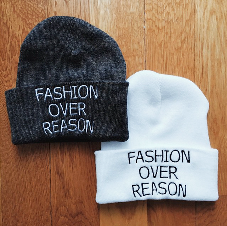 Fashion Over Reason Tuques on Bow & Drape, FOR beanies, swag, #FORlid #FORgear