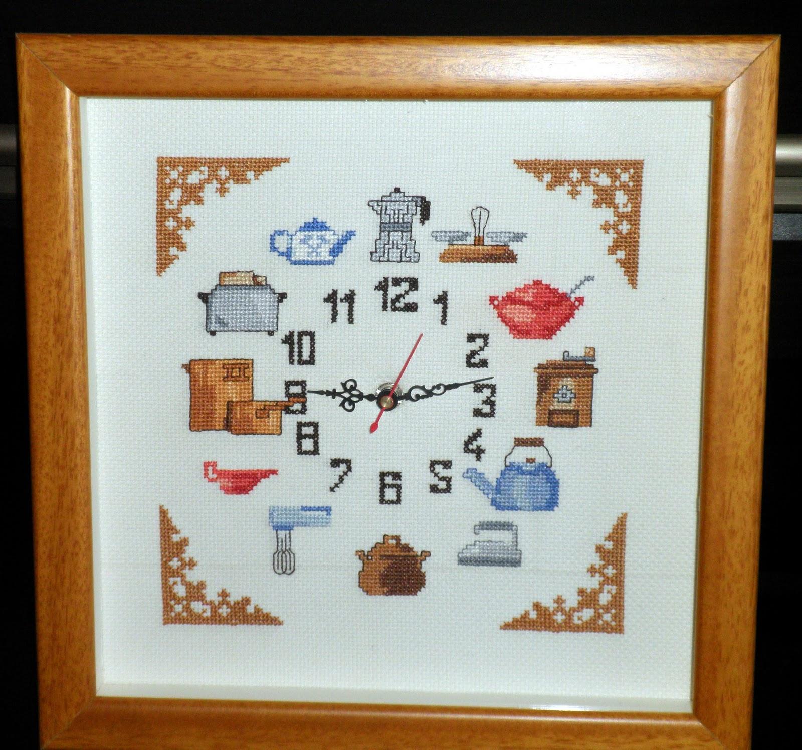 Bordados ganchillo y punto reloj de punto de cruz para for Punto de cruz para cocina
