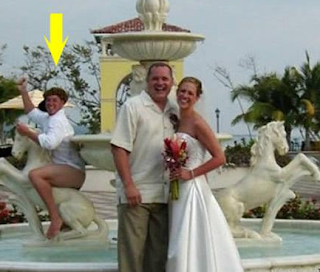 funny pictures: riding a horse on the background