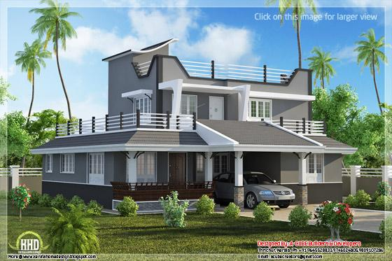 Contemporary style home plan view 2