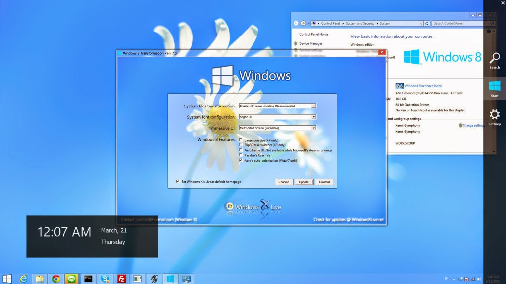 Free Download Windows 8 Transformation Pack For All Windows for totally free and 100% working