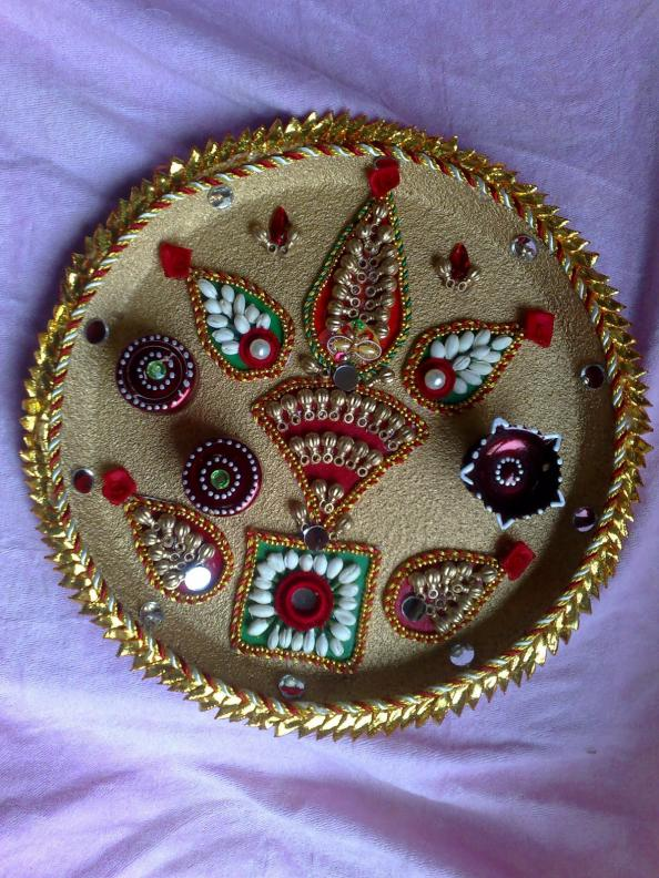 fashion beauty decorative aarti thali for navratri