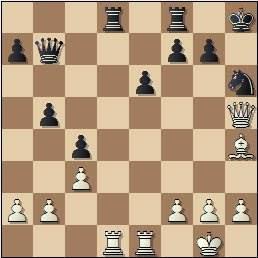 Partida de ajedrez Velat vs Cifuentes, Madrid 1950, posición después de 22…Tad8??