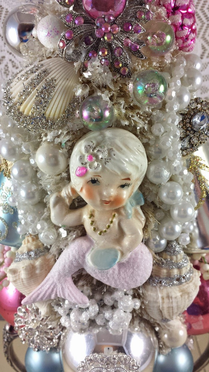Ms Bingles Vintage Christmas Mermaid Christmas Tree