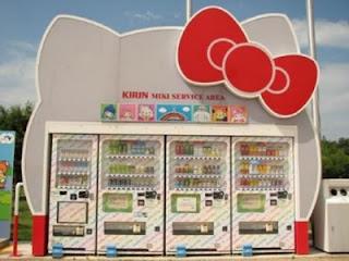 Hello Kitty drinks and snacks vending machine