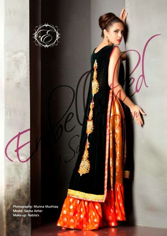EmbroideredPartyWearDresses2014 wwwfashionhuntworldblogspotcom 13 - Embroidered Party Wear Collection 2014 By Sadaf Amir