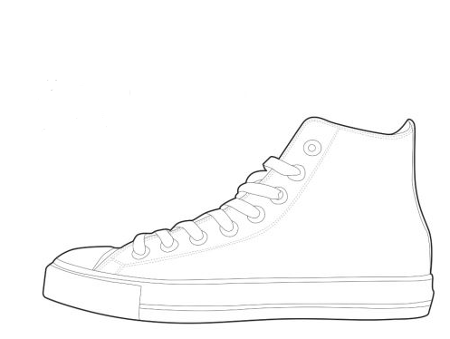 converse shoe template cake ideas and designs