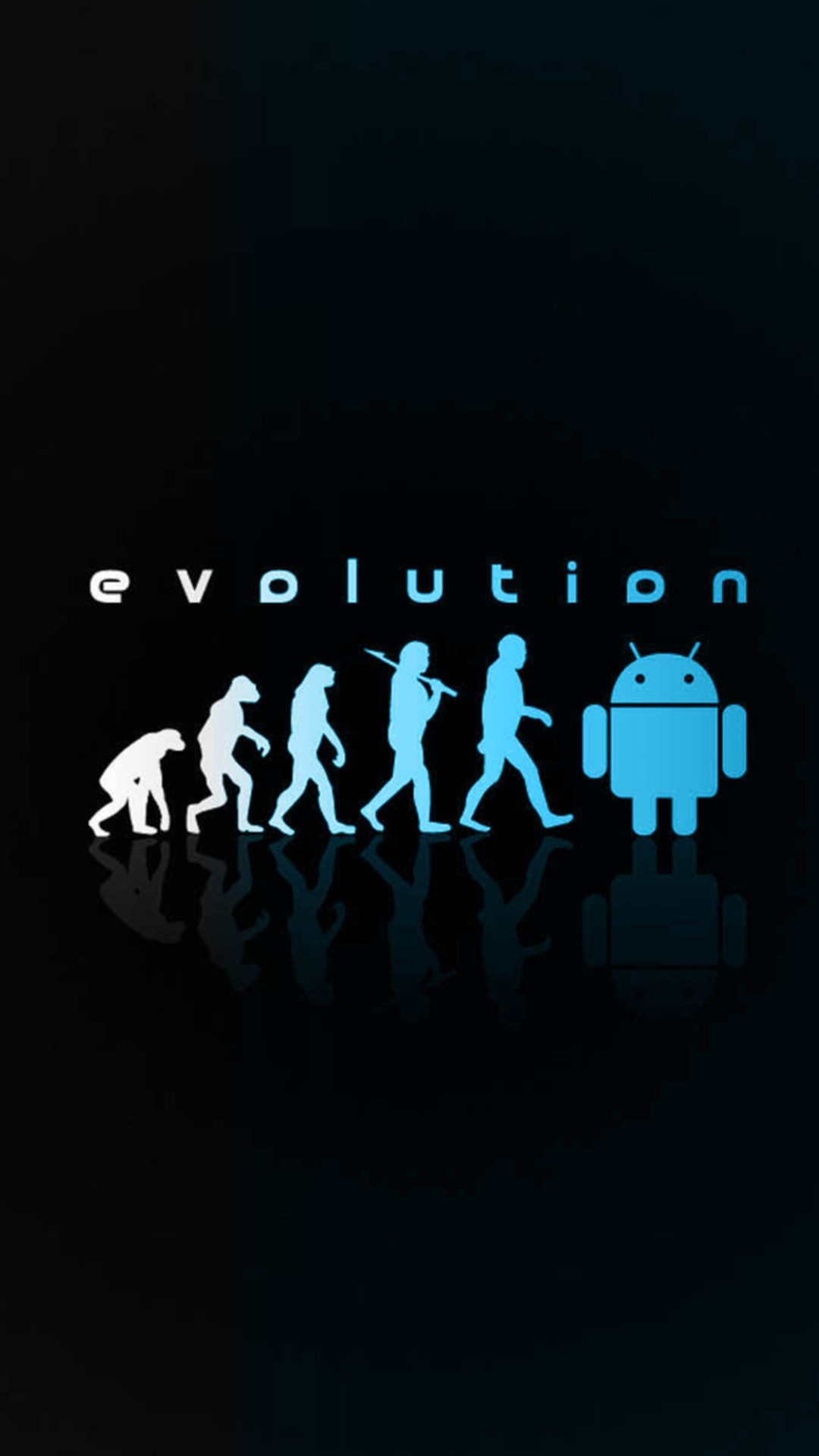 click here to download 1080x1920 pixel android evolution neon blue android best wallpaper