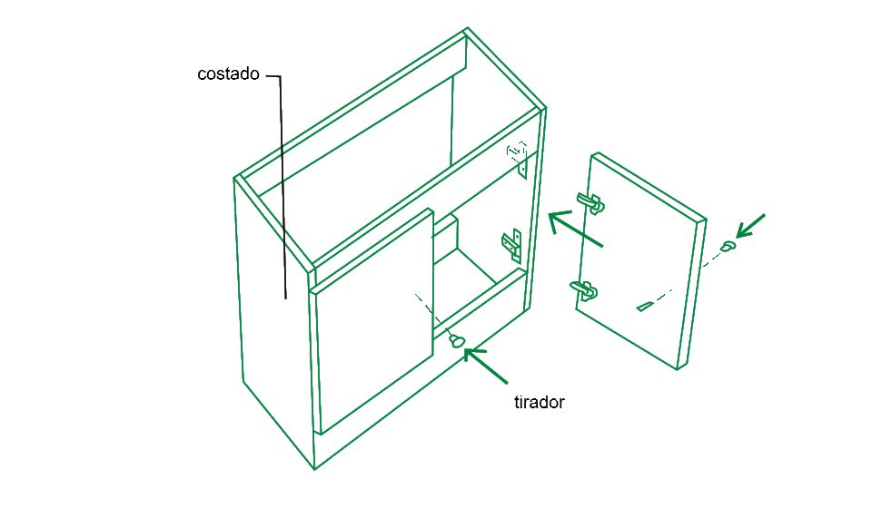 Mueble de cocina bajo para lavaplatos plano mueble de for Hacer plano cocina