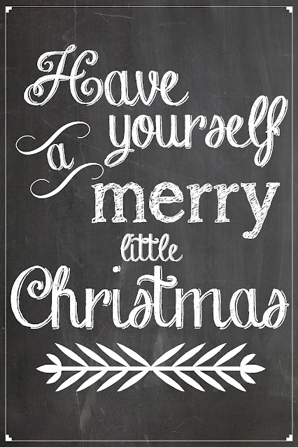 FREE Christmas Chalkboard Printables by Orchard Girls