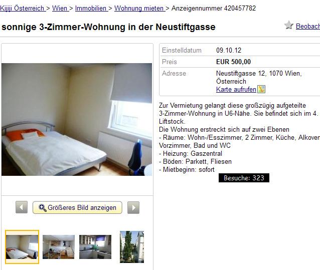 Sonnige 3-Zimmer-Wohnung In Der Neustiftgasse