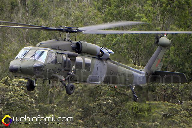 Un helicóptero UH-60L Black Hawk del Ejército de Colombia con matrícula EJC-2148 se accidentó en el departamento del Meta este domingo 10 de mayo de 2015.