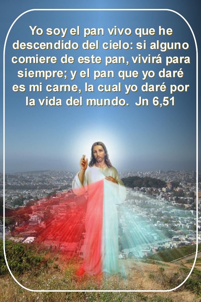 fotografia divina misericordia con texto de la biblia